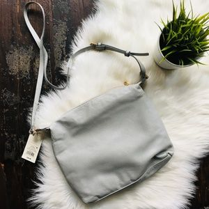 A NEW DAY Light Gray Crossbody Purse NEW NWT
